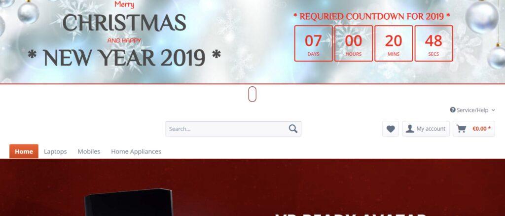 Shopware 5 - Weihnachts Countdown