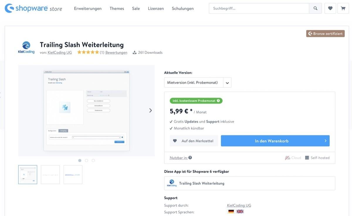 Shopware Kategorie URLs -Plugins