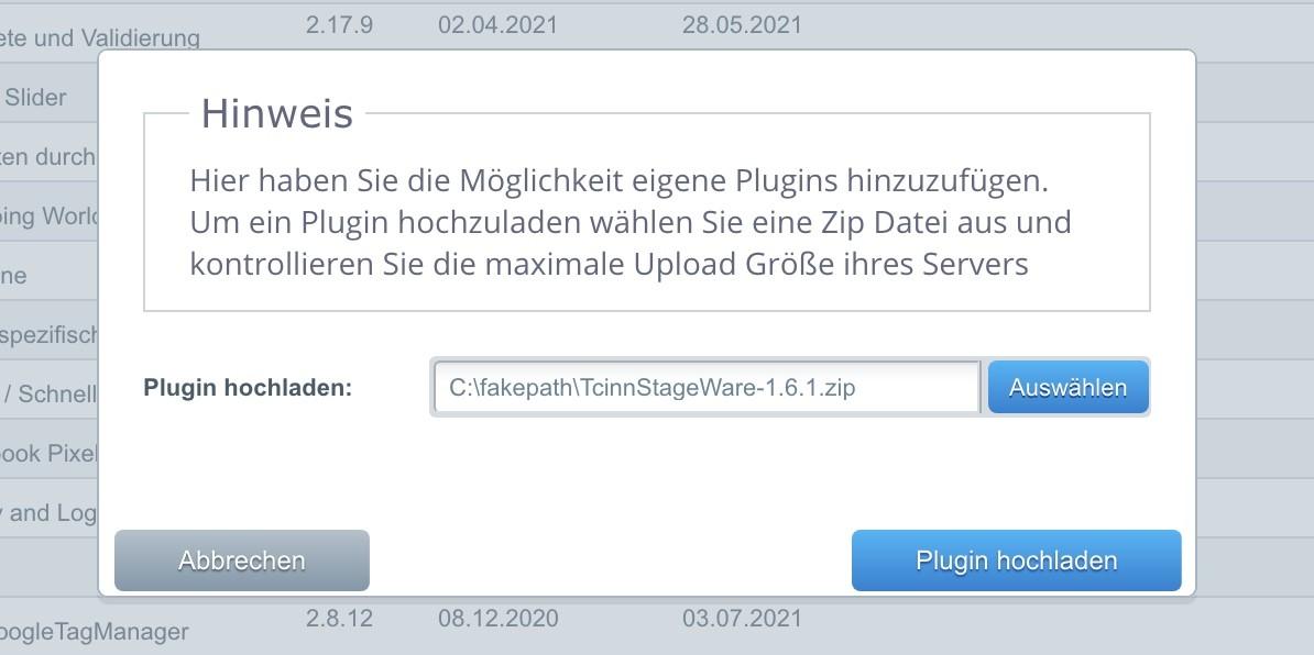 Shopware Staging - StageWare 4 - Installierung
