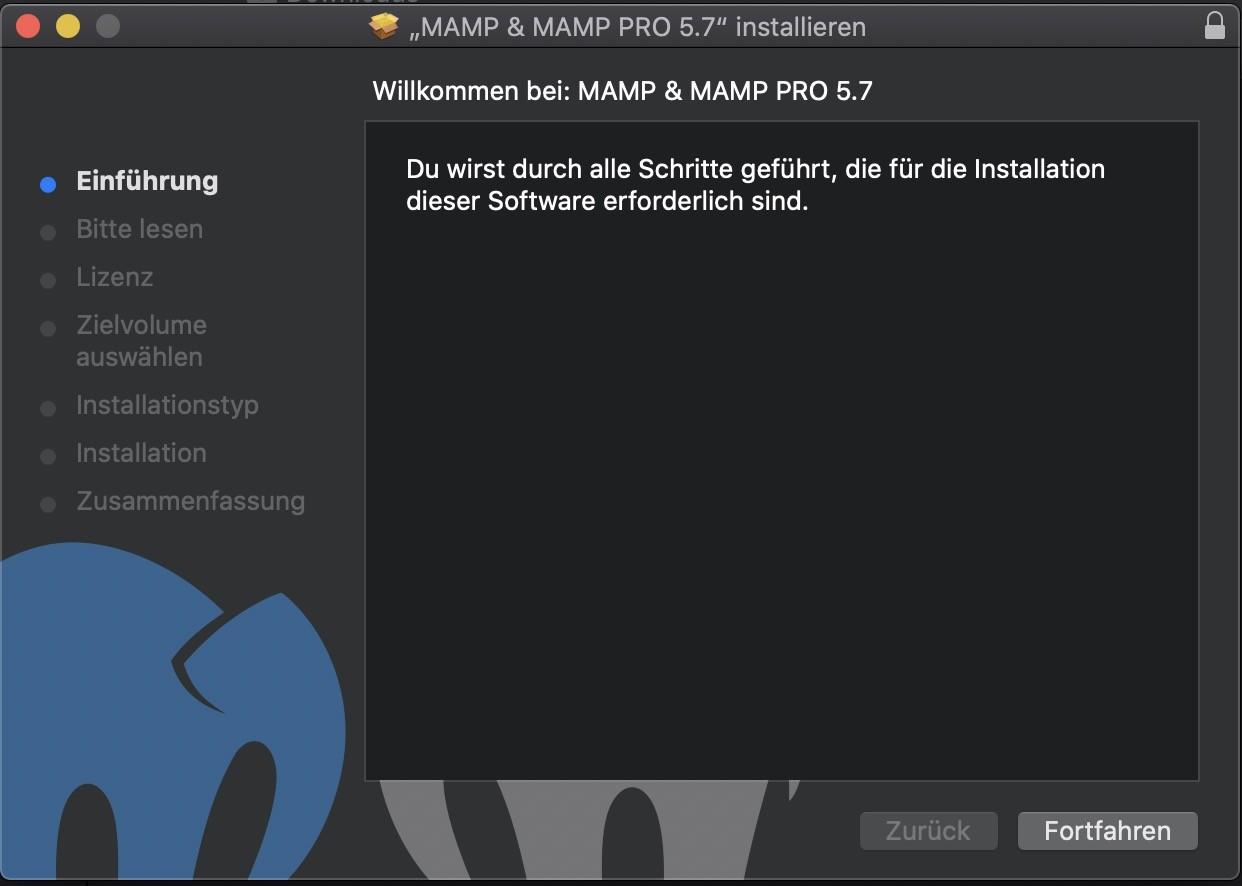 Shopware 6 lokal installieren Mac - MAMP Installation 1