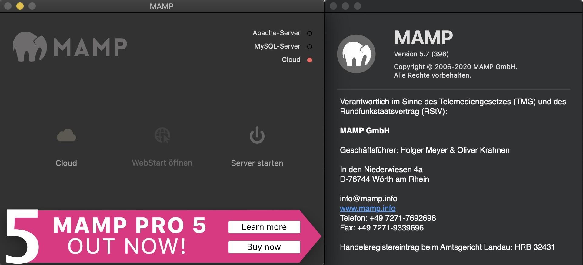 Shopware 6 lokal installieren Mac - MAMP neue Version