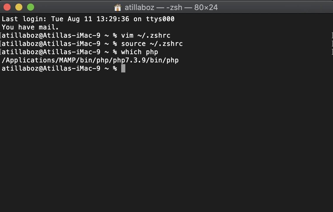 Shopware 6 lokal installieren Mac - PHP ändern 5