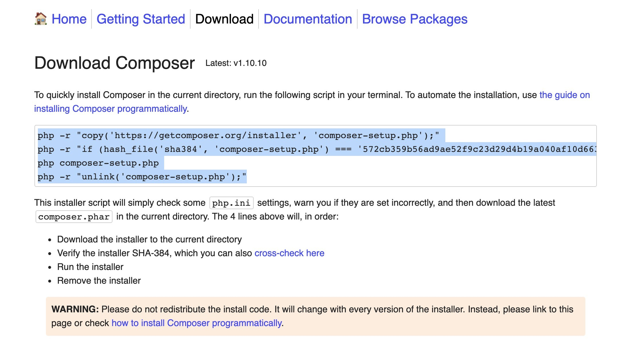 Shopware 6 lokal installieren Mac - Composer